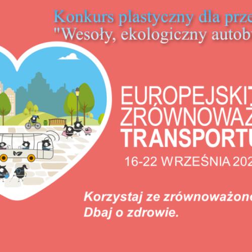 """Konkurs plastyczny """"Wesoły, ekologiczny autobus"""""""